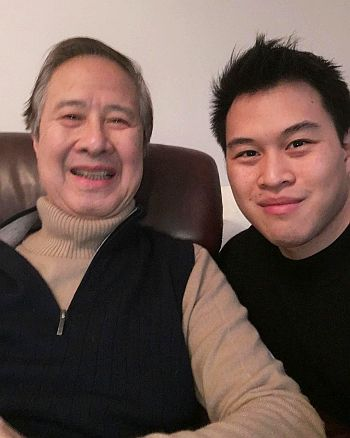 Actor Chris Yong Father Image